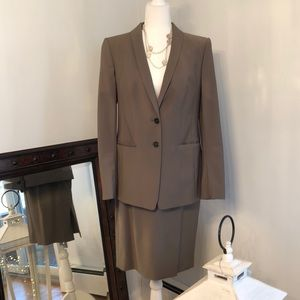 Classy Ann Taylor Olive Career Suit